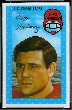 Chris Hanburger 1971 Kelloggs football card