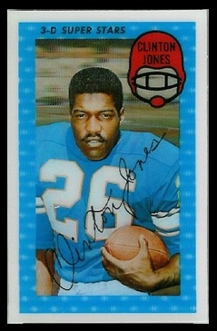 Clint Jones 1971 Kelloggs football card