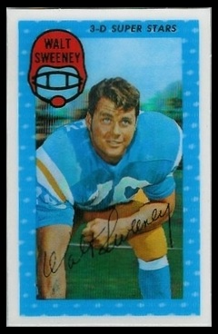 Walt Sweeney 1971 Kelloggs football card