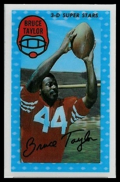 Bruce Taylor 1971 Kelloggs football card