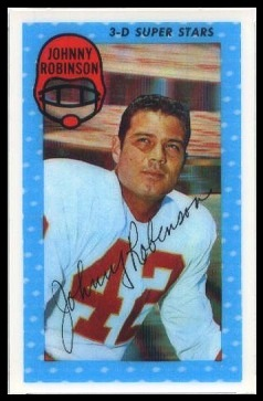 Johnny Robinson 1971 Kelloggs football card