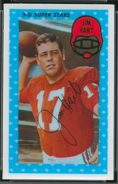 Jim Hart 1971 Kelloggs football card
