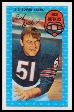 Dick Butkus 1971 Kelloggs football card