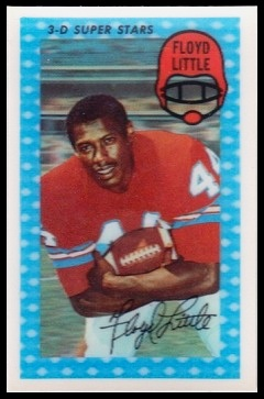 Floyd Little 1971 Kelloggs football card