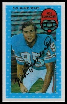 Nick Buoniconti 1971 Kelloggs football card