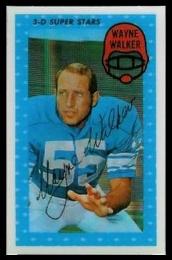 Wayne Walker 1971 Kelloggs football card