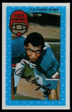 Claude Humphrey 1971 Kelloggs football card