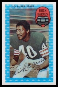 Erich Barnes 1971 Kelloggs football card