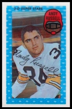 Andy Russell 1971 Kelloggs football card