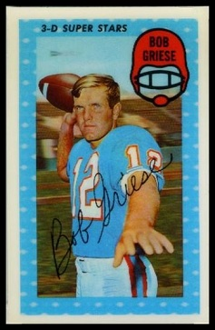Bob Griese 1971 Kelloggs football card