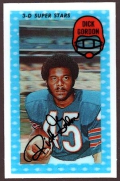 Dick Gordon 1971 Kelloggs football card