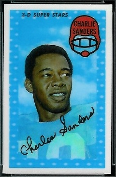 Charlie Sanders 1971 Kelloggs football card
