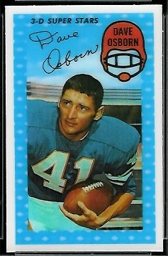 Dave Osborn 1971 Kelloggs football card