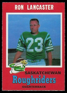 Ron Lancaster 1971 O-Pee-Chee CFL football card