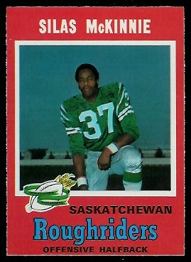Silas McKinnie 1971 O-Pee-Chee CFL football card