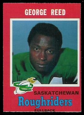 George Reed 1971 O-Pee-Chee CFL football card