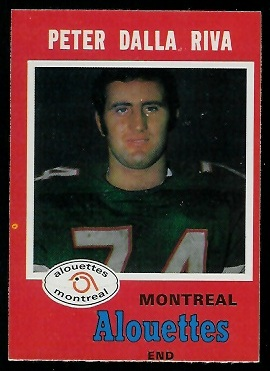 Peter Dalla Riva 1971 O-Pee-Chee CFL football card