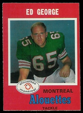 Ed George 1971 O-Pee-Chee CFL football card