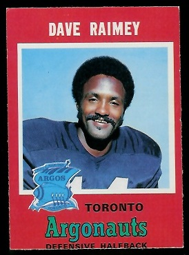 Dave Raimey 1971 O-Pee-Chee CFL football card