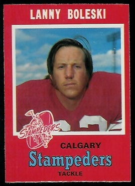 Lanny Boleski 1971 O-Pee-Chee CFL football card