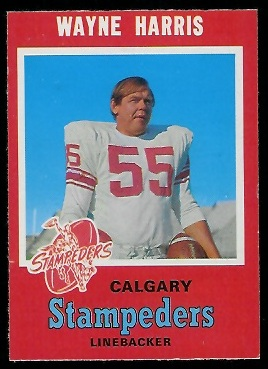 Wayne Harris 1971 O-Pee-Chee CFL football card