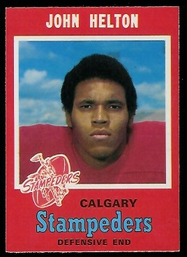 John Helton 1971 O-Pee-Chee CFL football card