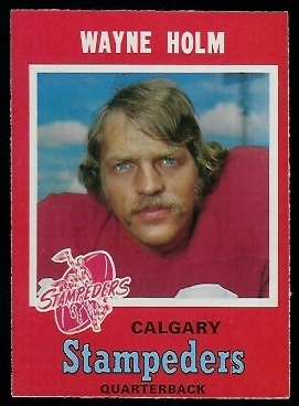 Wayne Holm 1971 O-Pee-Chee CFL football card
