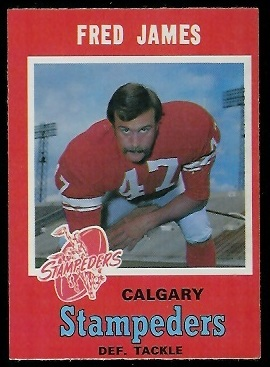 Fred James 1971 O-Pee-Chee CFL football card