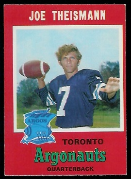 Joe Theismann 1971 O-Pee-Chee CFL football card
