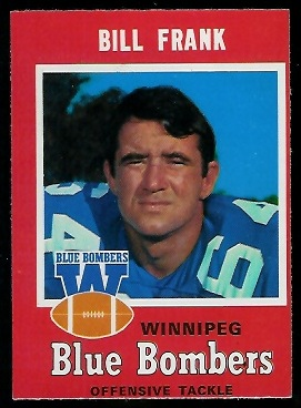 Bill Frank 1971 O-Pee-Chee CFL football card