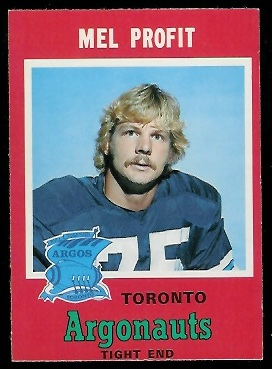 Mel Profit 1971 O-Pee-Chee CFL football card