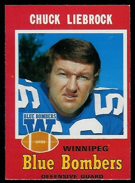 Chuck Liebrock 1971 O-Pee-Chee CFL football card