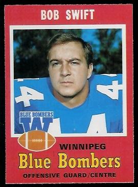 Bob Swift 1971 O-Pee-Chee CFL football card