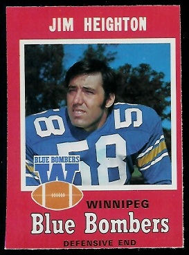Jim Heighton 1971 O-Pee-Chee CFL football card