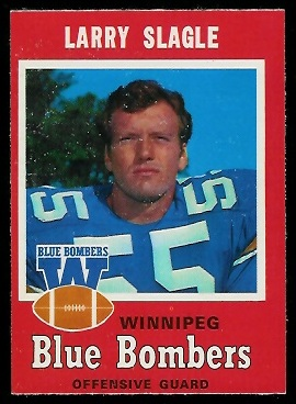 Larry Slagle 1971 O-Pee-Chee CFL football card