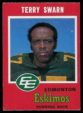 Terry Swarn 1971 O-Pee-Chee CFL football card