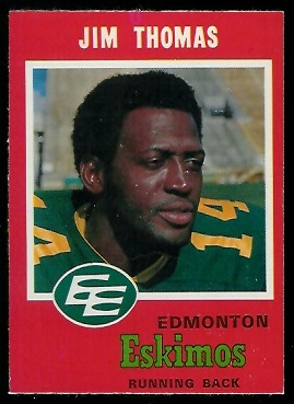 Jim Thomas 1971 O-Pee-Chee CFL football card