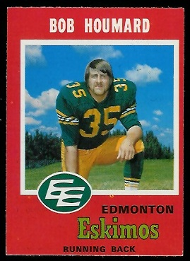 Bob Houmard 1971 O-Pee-Chee CFL football card