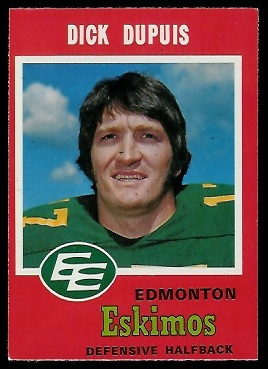 Dick Dupuis 1971 O-Pee-Chee CFL football card