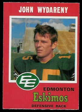 John Wydareny 1971 O-Pee-Chee CFL football card