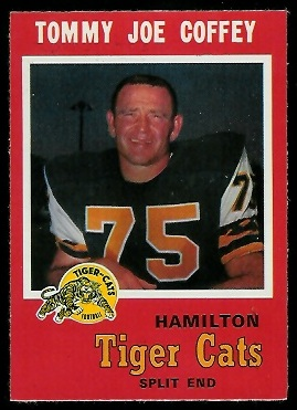 Tommy Joe Coffey 1971 O-Pee-Chee CFL football card