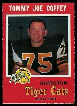 Tommy Joe Coffey 1971 O-Pee-Chee CFL football card