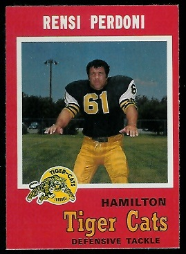 Renso Perdoni 1971 O-Pee-Chee CFL football card