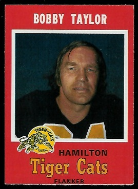 Bobby Taylor 1971 O-Pee-Chee CFL football card