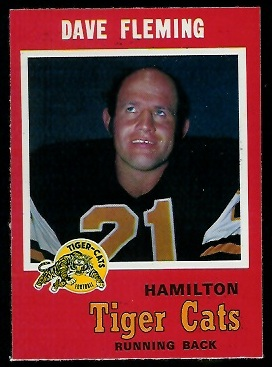 Dave Fleming 1971 O-Pee-Chee CFL football card