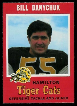 Bill Danychuk 1971 O-Pee-Chee CFL football card