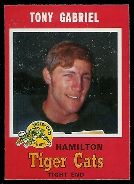 Tony Gabriel 1971 O-Pee-Chee CFL football card