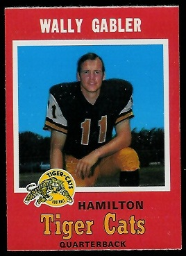 Wally Gabler 1971 O-Pee-Chee CFL football card