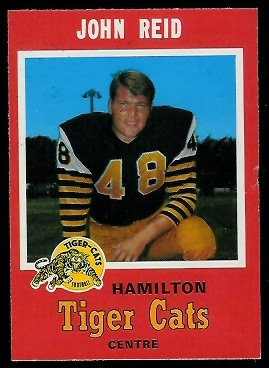 John Reid 1971 O-Pee-Chee CFL football card