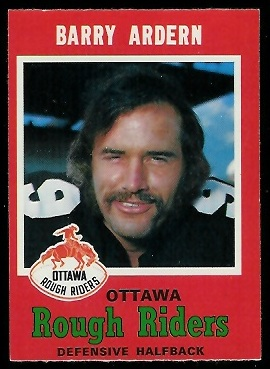 Barry Ardern 1971 O-Pee-Chee CFL football card
